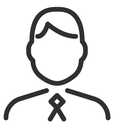 Enkel illustration föreställande en man med sidbena och slips.