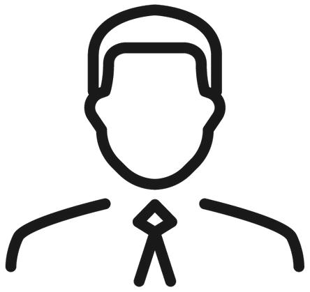 Enkel illustration föreställande en man i slips.